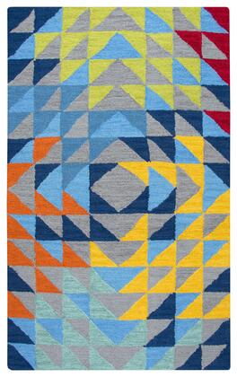 PLDPD588A33540507 Playday Kaleidoscope Youth Area Rug Size 5 X7  in