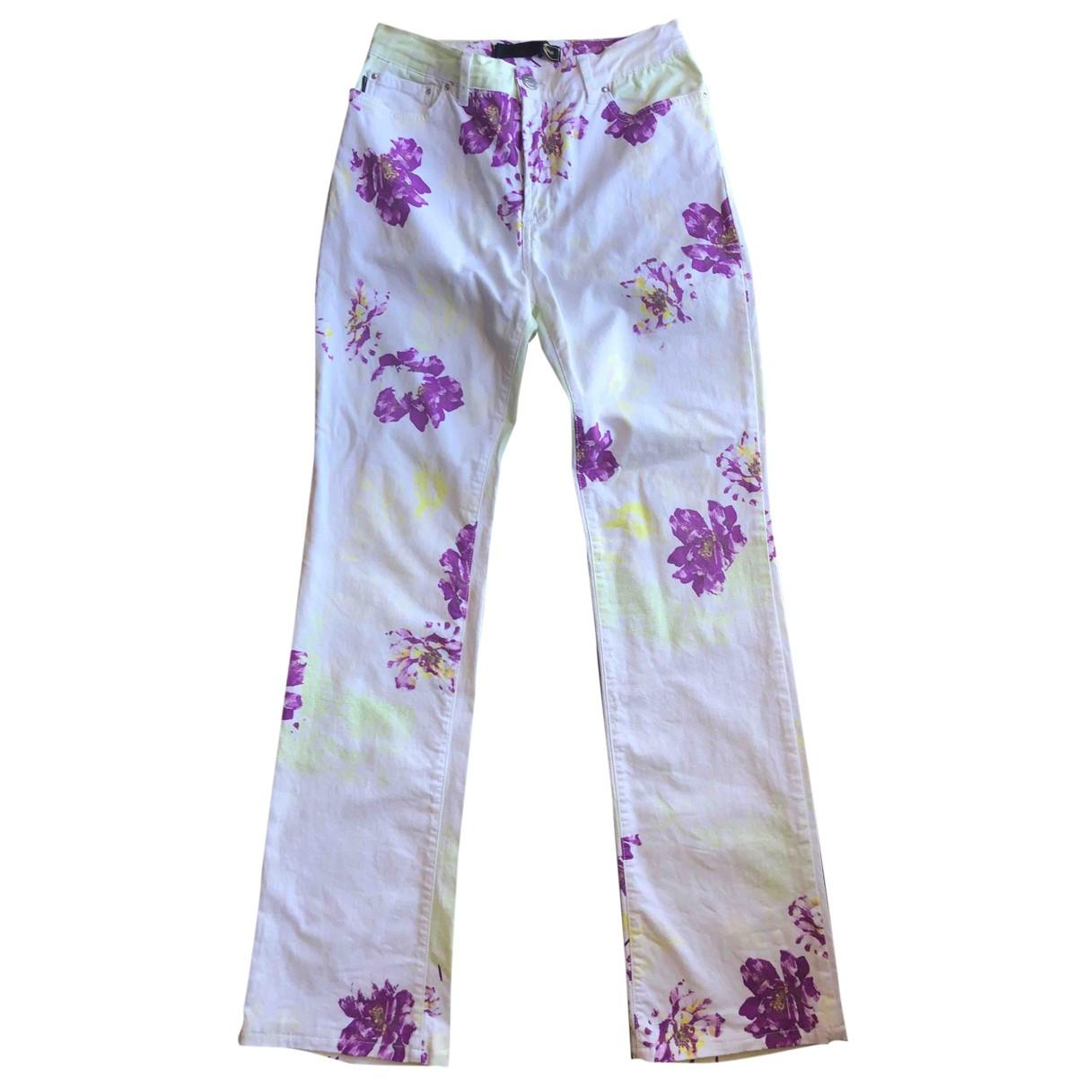 Pantalon en Algodon Multicolor Just Cavalli