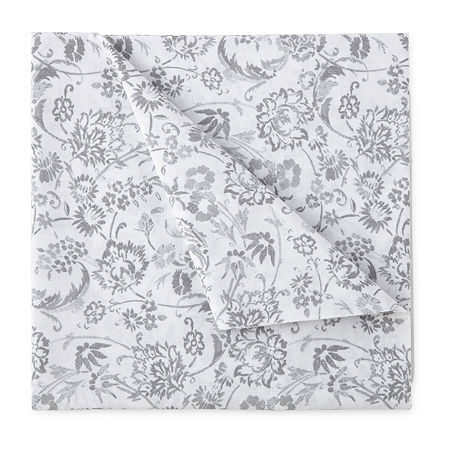Home Expressions Cotton Designs Printed Sheet Sets, One Size , White