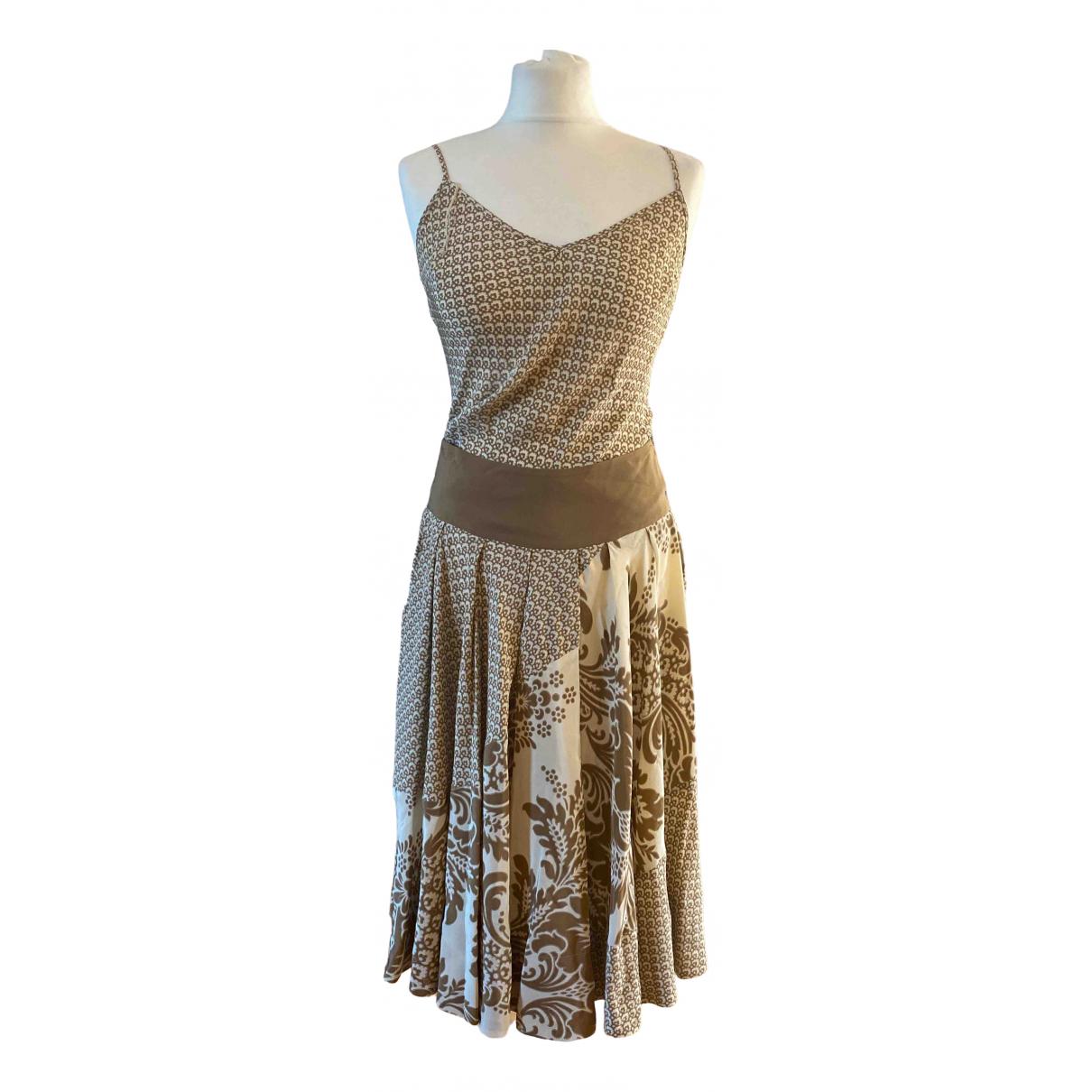 Vestido midi de Seda Dkny