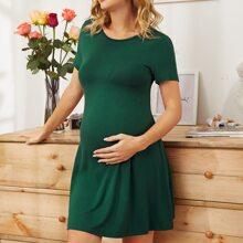 Maternity Einfarbiges Kleid