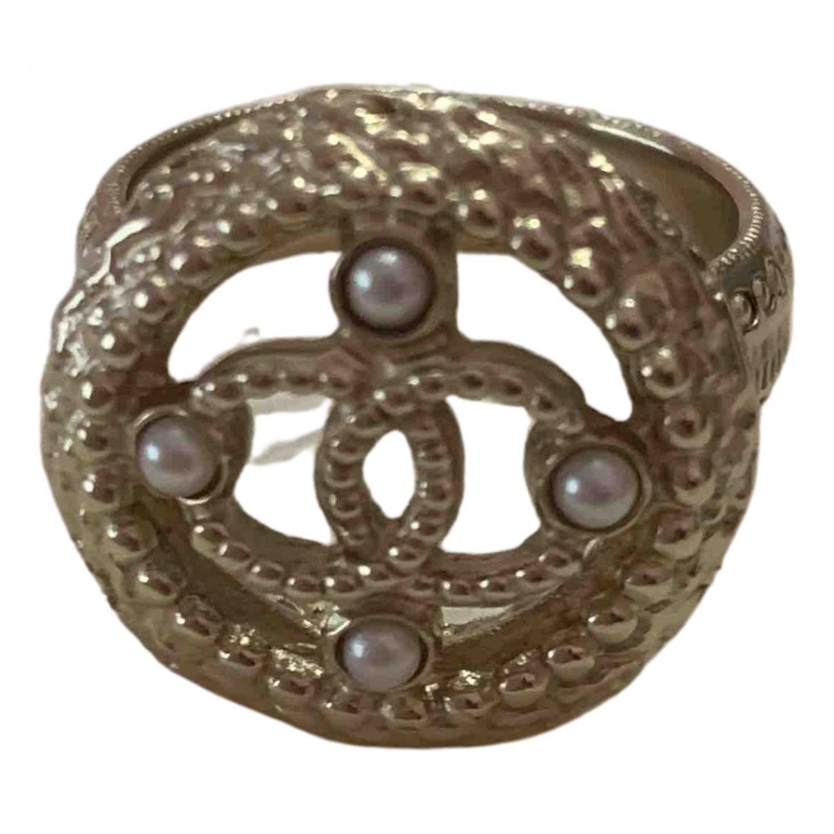 Chanel - Bague   pour femme en metal - dore