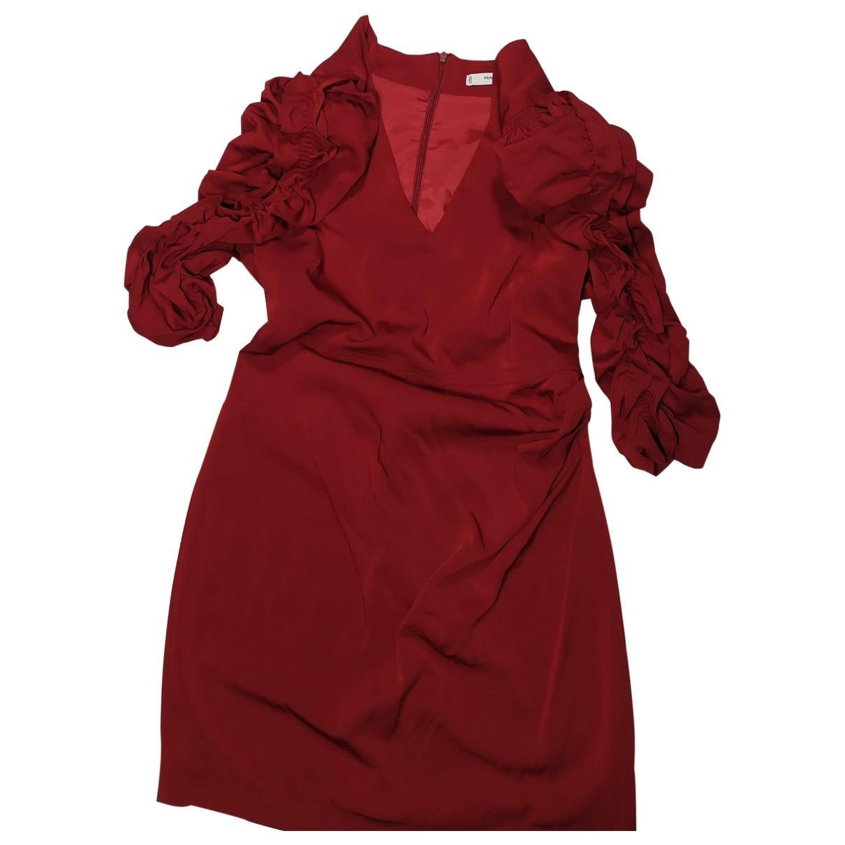 Mango - Robe   pour femme - bordeaux