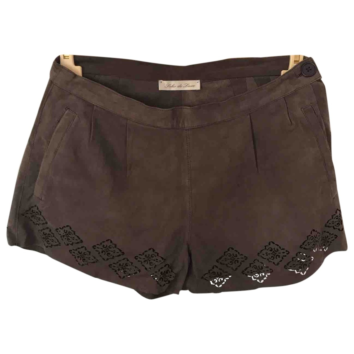 Non Signé / Unsigned \N Brown Suede Shorts for Women 42 IT