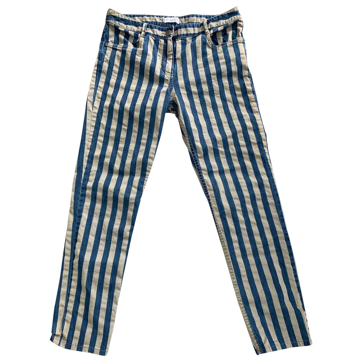 Claudie Pierlot \N Grey Cotton Trousers for Women 36 FR