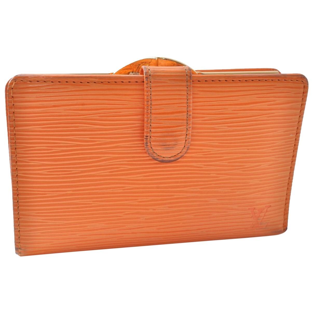 Louis Vuitton \N Portemonnaie in  Orange Leder