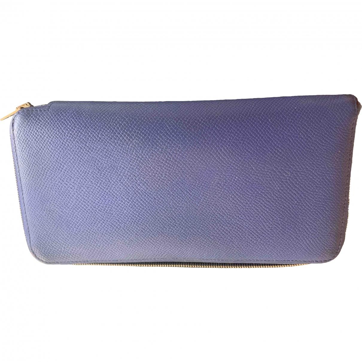 Hermès Silk'in Blue Leather wallet for Women \N