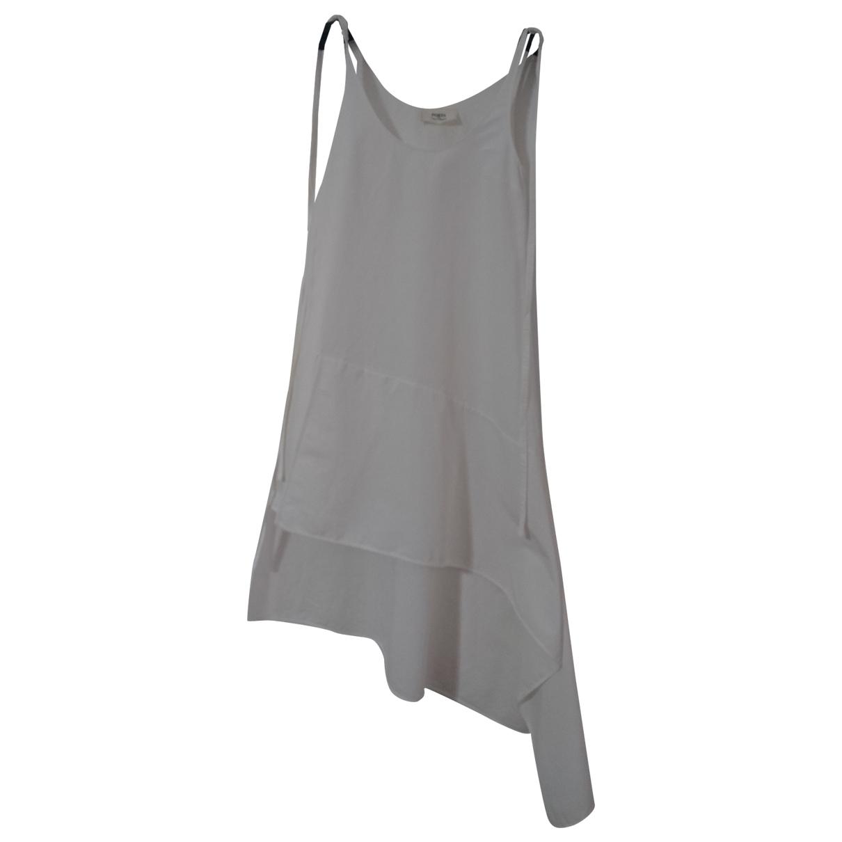 Ports 1961 - Robe   pour femme en coton - blanc