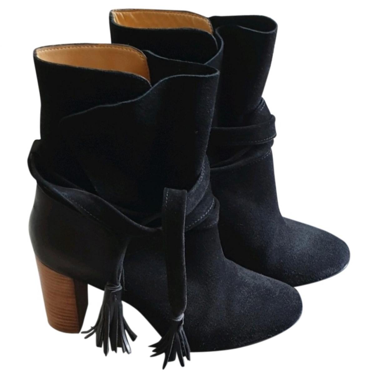 Ba&sh Michael Black Suede Ankle boots for Women 36 EU