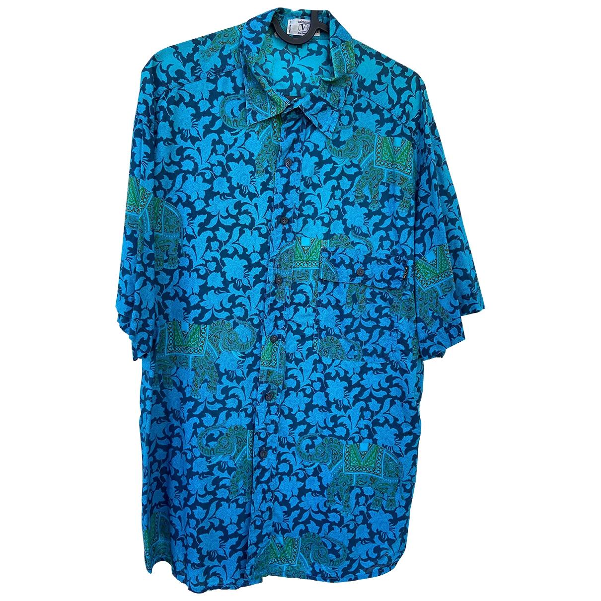Valentino Garavani \N Blue Cotton Shirts for Men 43 EU (tour de cou / collar)