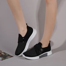 Slip On Sneakers mit Strass Dekor