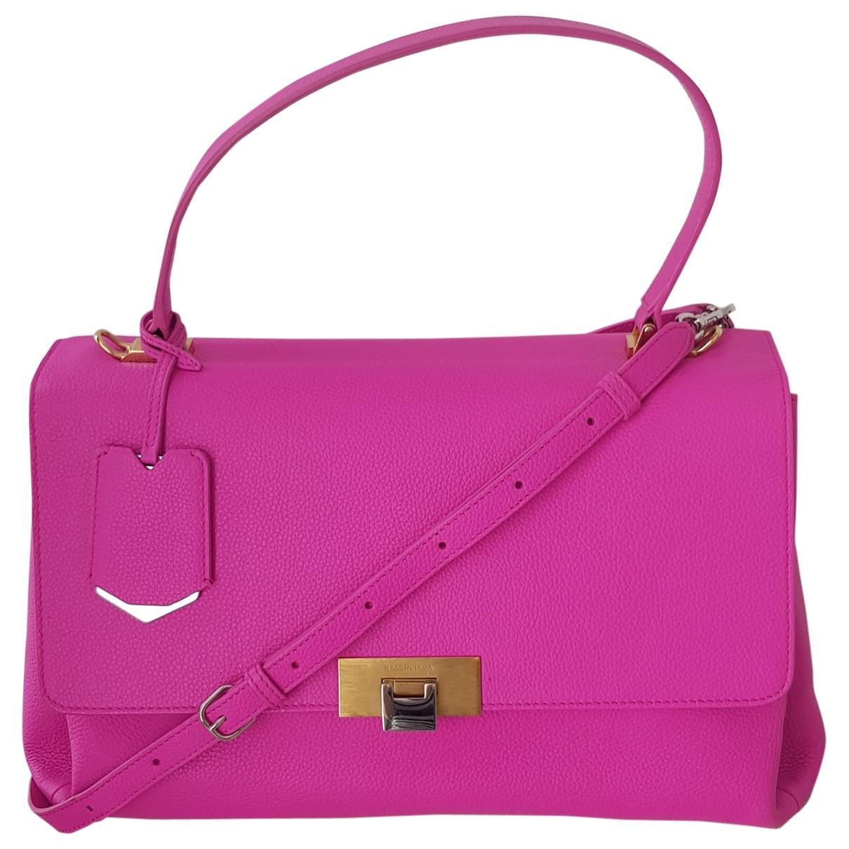 Balenciaga Le Dix Pink Leather handbag for Women \N