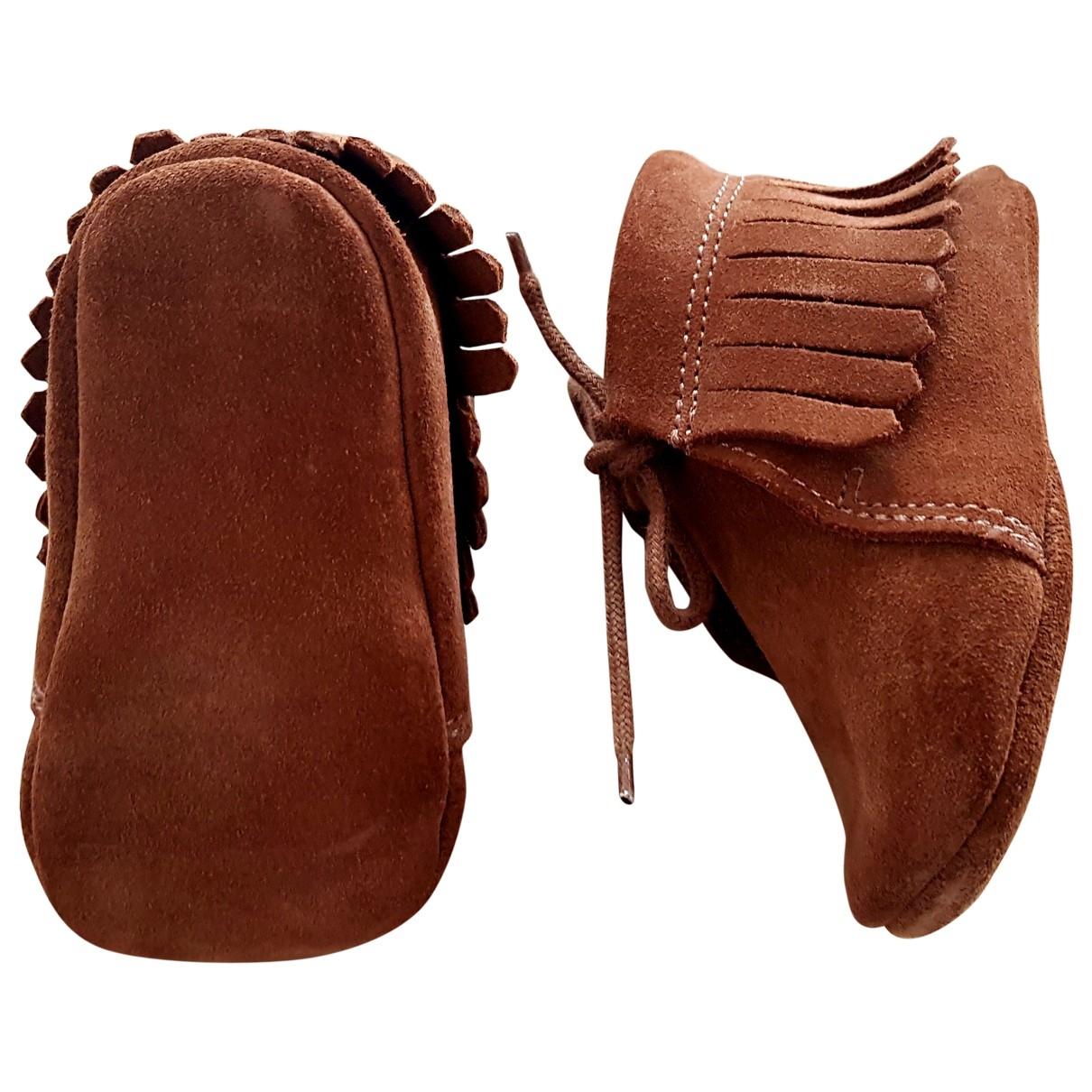Zara - Premiers pas   pour enfant en cuir - marron