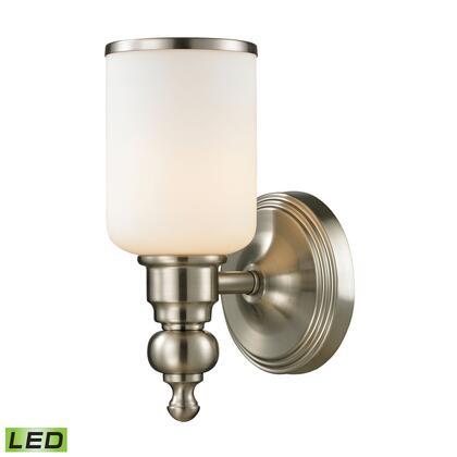 11580/1-LED Bristol Collection 1 Light bath in Brushed Nickel -