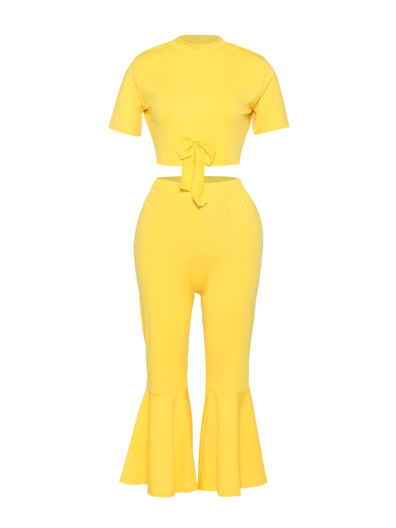 Ericdress T-Shirt and Ankle Length Pant Women's Two Piece Set