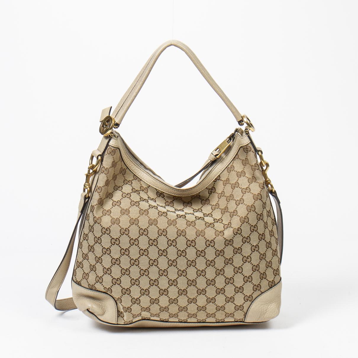 Gucci Hobo Brown Cotton handbag for Women \N