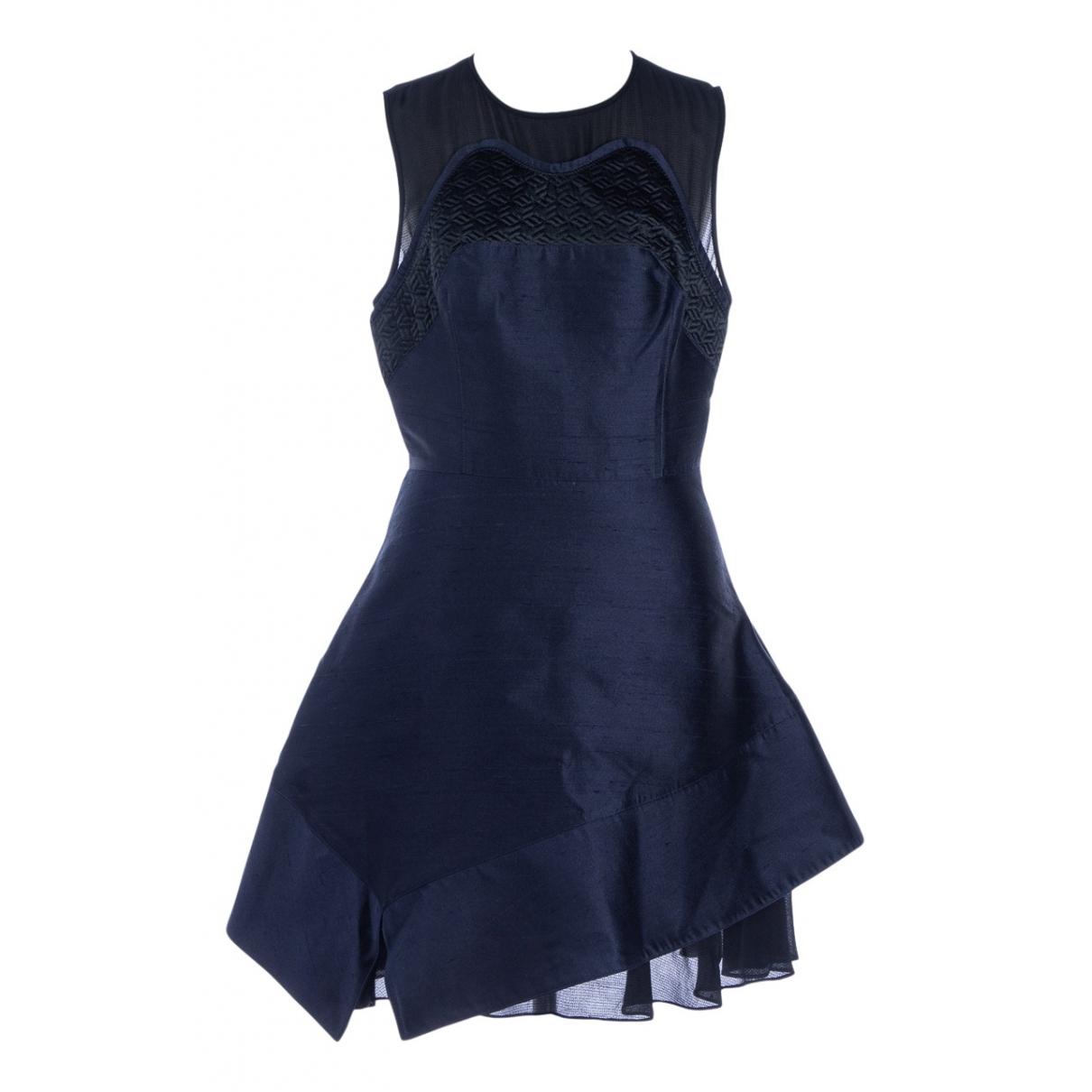 Proenza Schouler \N Kleid in  Marine Seide