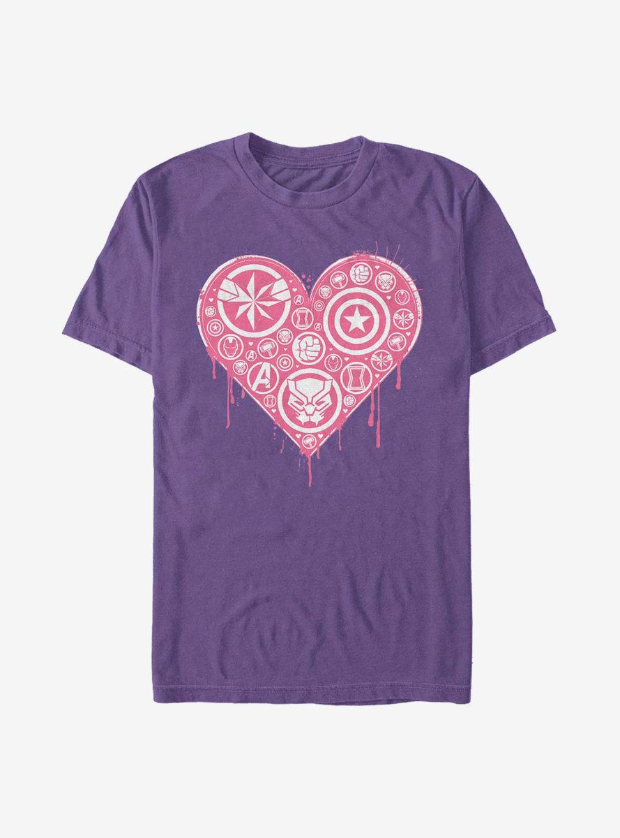 Marvel Avengers Heart Emblems T-Shirt