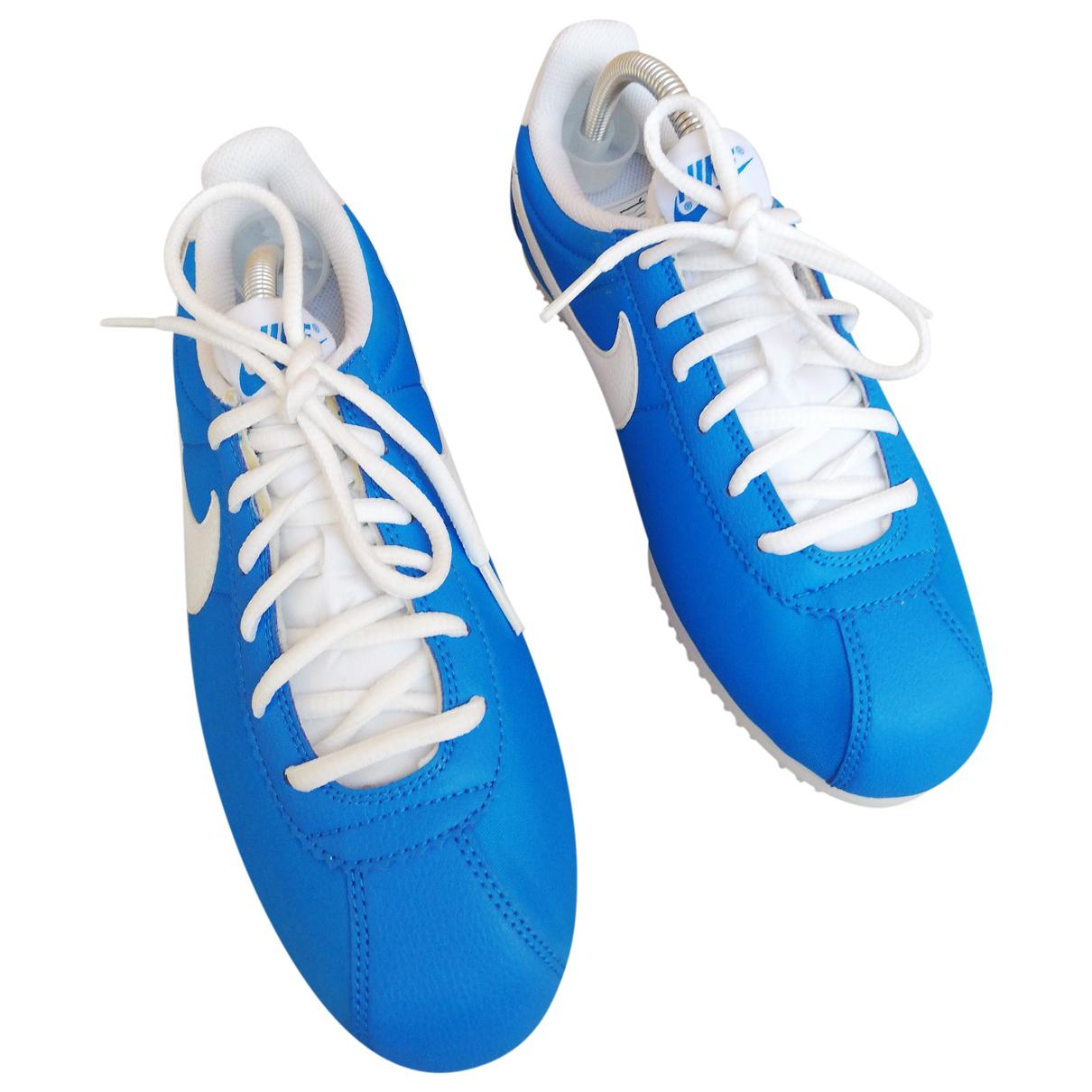 Nike Cortez Sneakers in  Blau Polyester