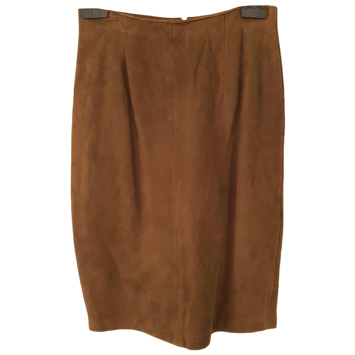 Chevignon - Jupe   pour femme en cuir - marron