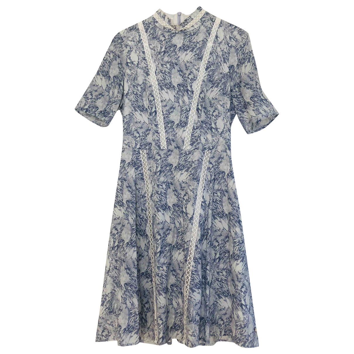Non Signé / Unsigned \N Blue Silk dress for Women 4 US