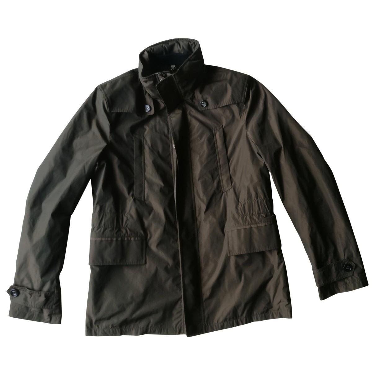 Burberry \N Jacke in  Khaki Polyester