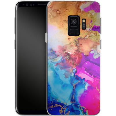 Samsung Galaxy S9 Silikon Handyhuelle - Cosmic Swirl III von Stella Lightheart
