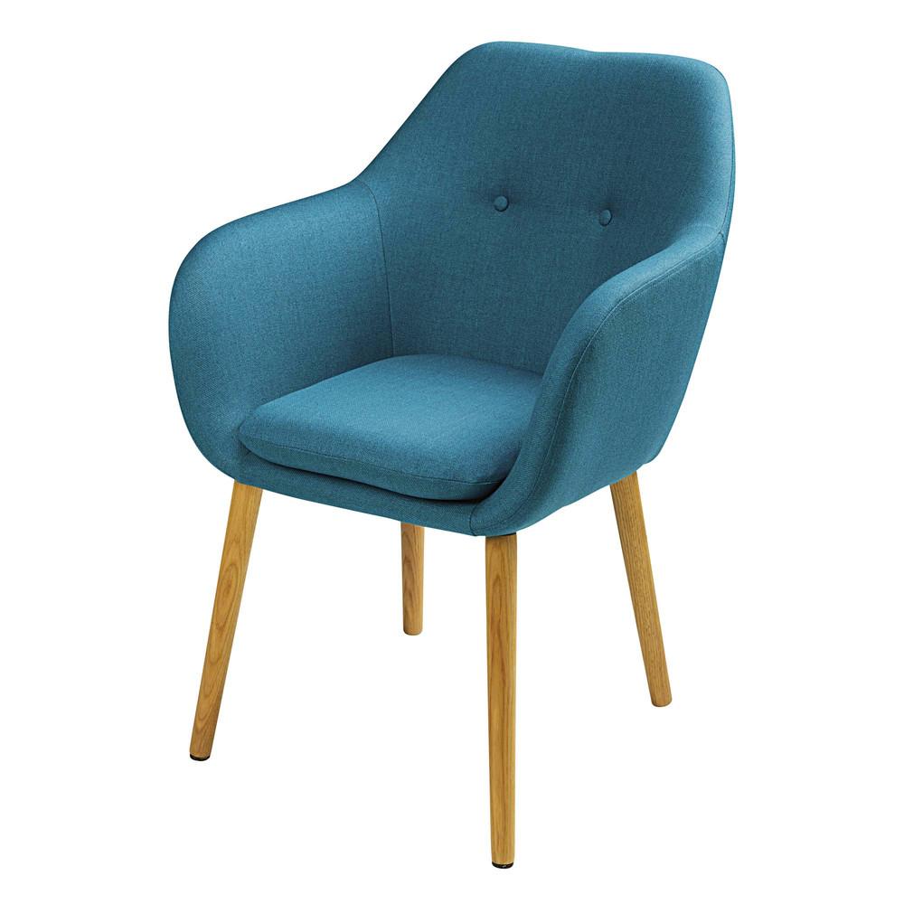 Vintage-Sessel, blau Arnold