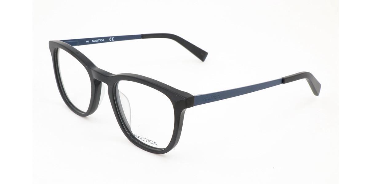 Nautica N8154 005 Men's Glasses Black Size 50 - Free Lenses - HSA/FSA Insurance - Blue Light Block Available