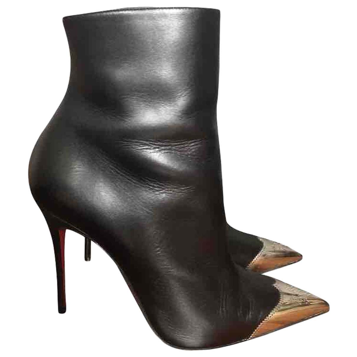 Christian Louboutin \N Black Leather Ankle boots for Women 38 EU