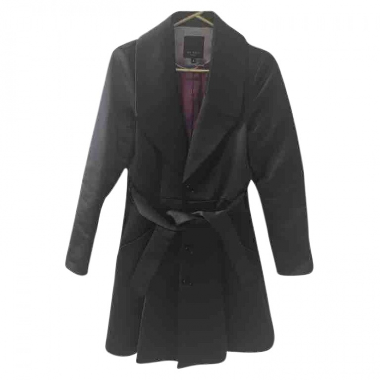 Ted Baker \N Black Cotton coat for Women 2 0-5