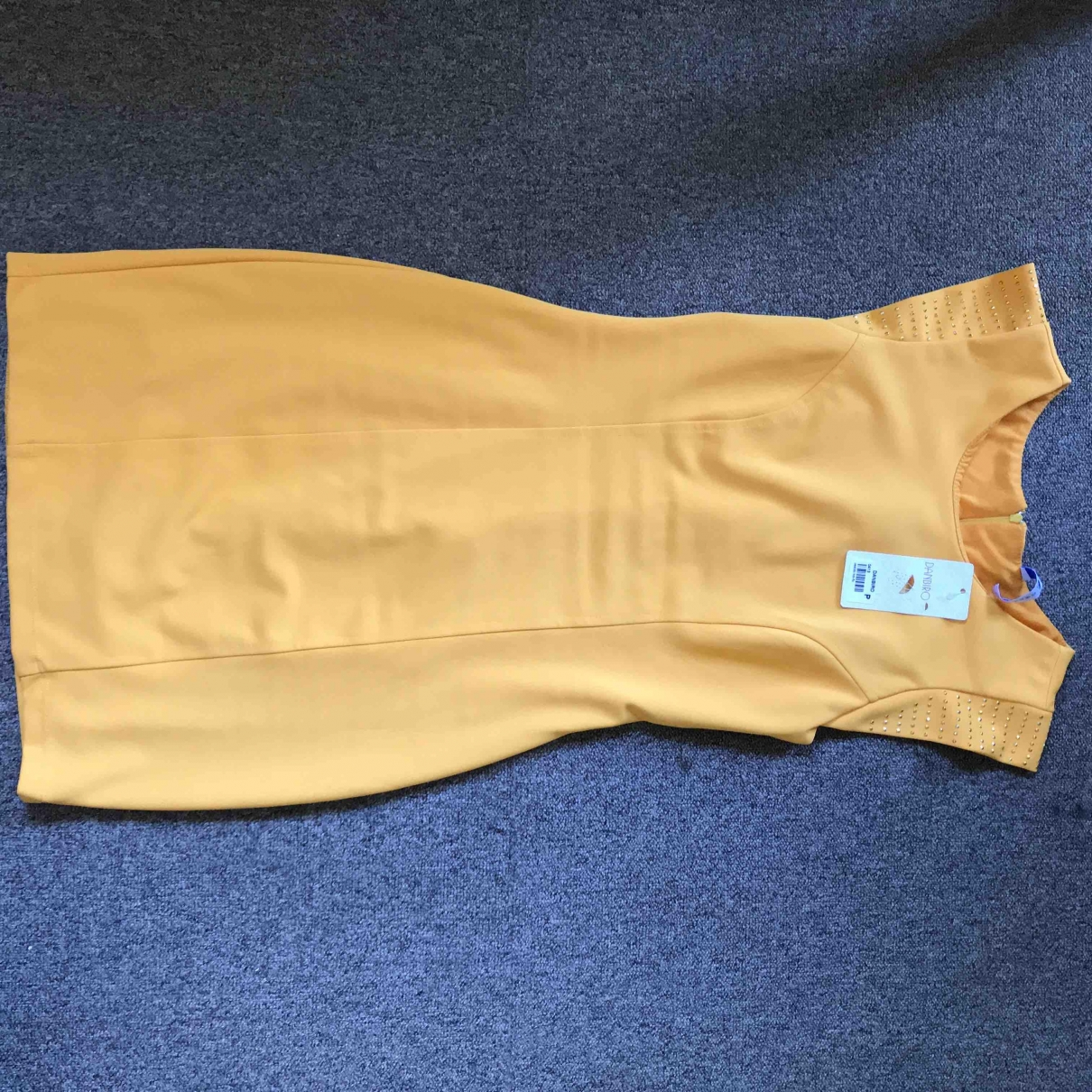 Non Signé / Unsigned \N Yellow Leather dress for Women 36 FR