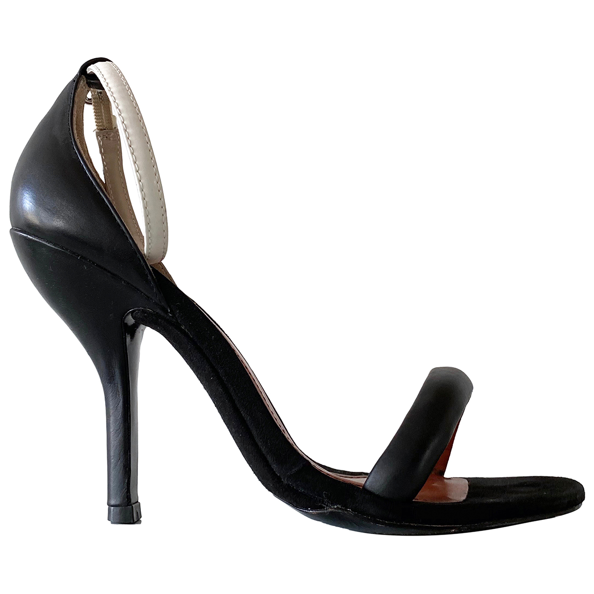 Bimba Y Lola N Black Leather Heels for Women 38 EU