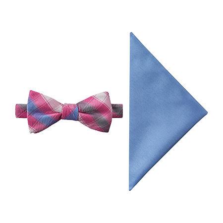 JF J.Ferrar Prom Checked Tie, One Size , Pink