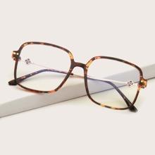 Tortoiseshell Square Frame Glasses