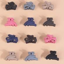 12 piezas garra de pelo de niñitas con lazo