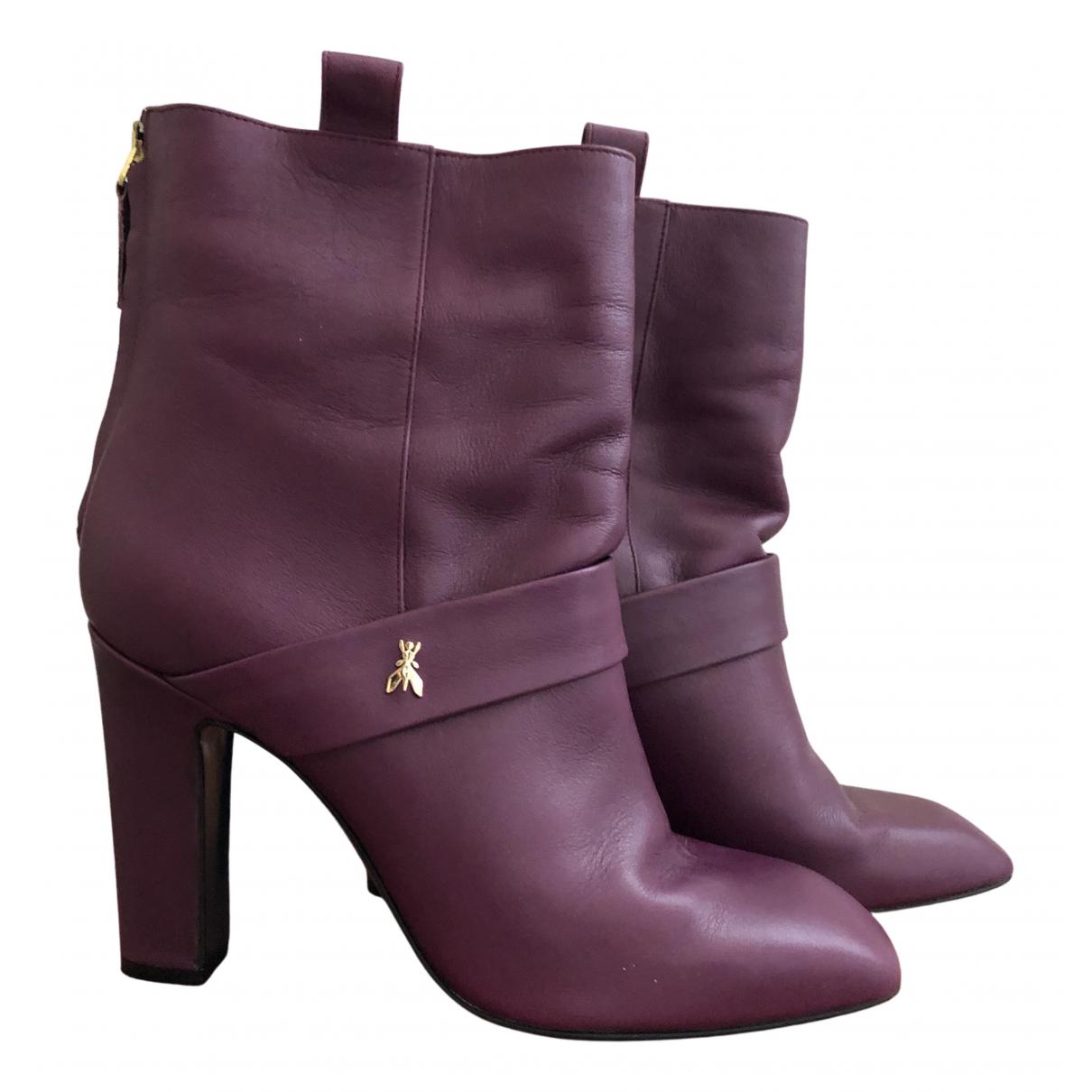 Patrizia Pepe - Boots   pour femme en cuir - violet