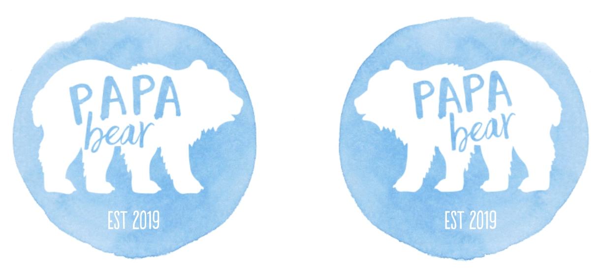 Non-Photo 11 oz. Light Blue Accent Mug, Gift -Bear Papa