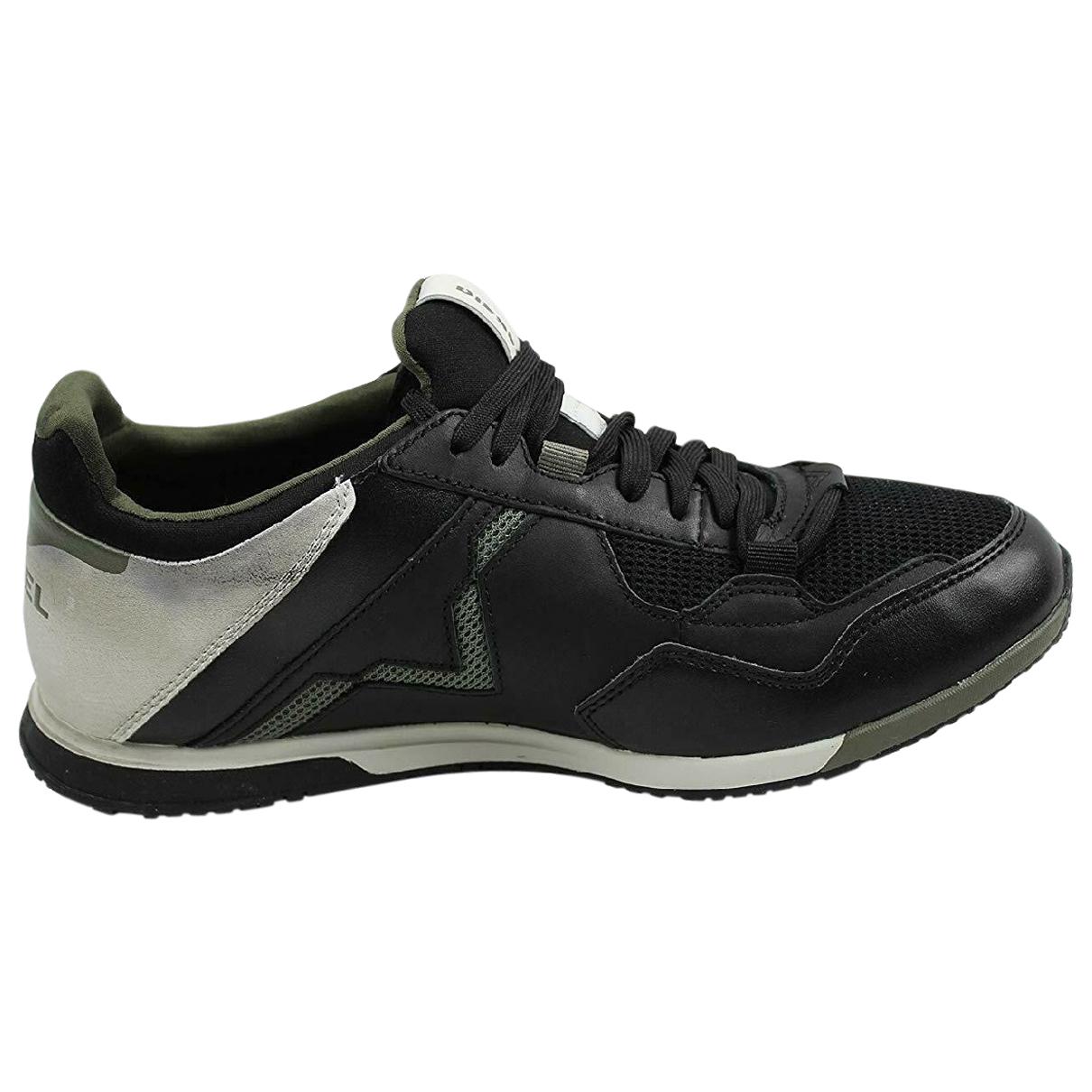 Diesel - Baskets   pour homme en cuir - noir