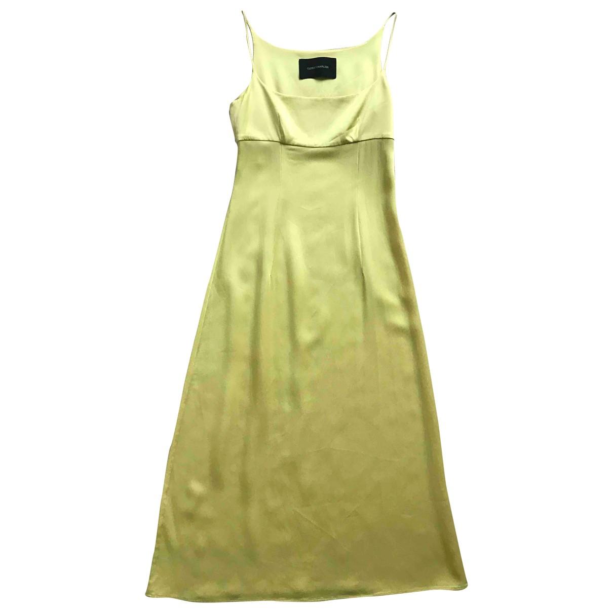 Cedric Charlier - Robe   pour femme - jaune
