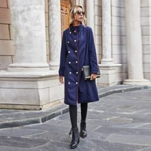 Mantel mit Stehkragen und doppelten Knopfleisten