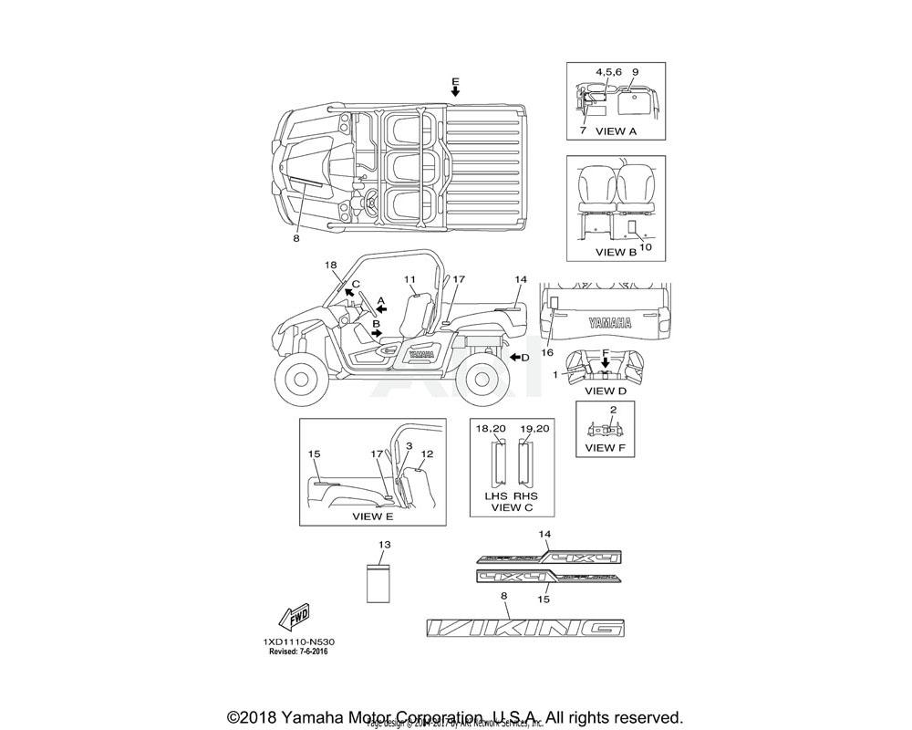 Yamaha OEM 1XD-F1781-00-00 EMBLEM 1