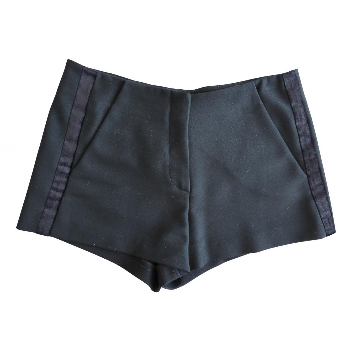 Maje \N Shorts in  Schwarz Wolle