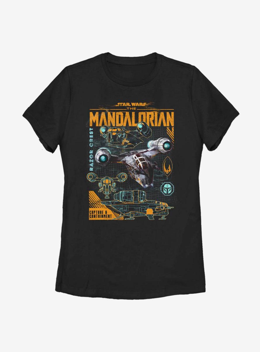 Star Wars The Mandalorian Razor Line Womens T-Shirt