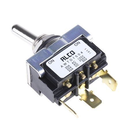 TE Connectivity SPDT Toggle Switch, Latching, IP67, Panel Mount (100)