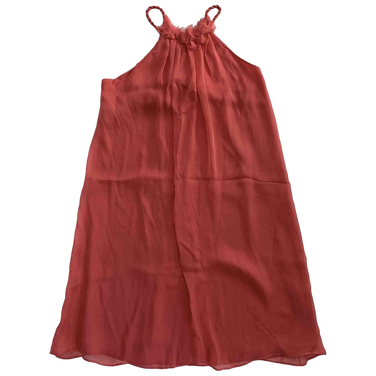 Zara \N Kleid in  Rosa Seide