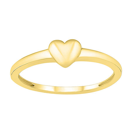 4.5MM 10K Gold Heart Band, 9 , No Color Family