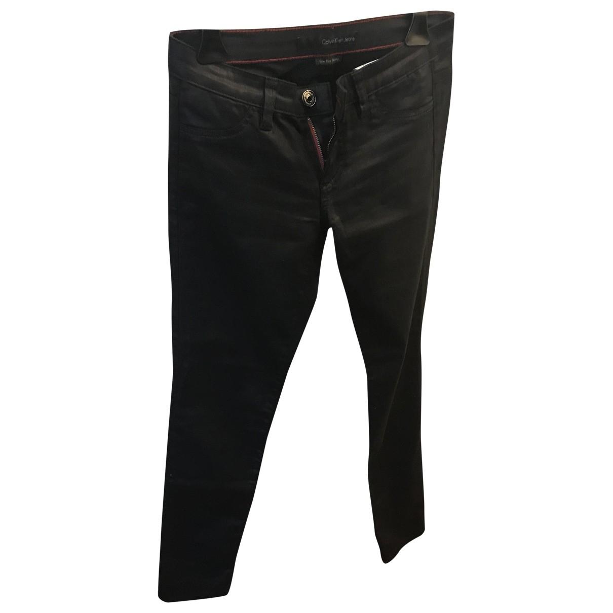 Calvin Klein \N Black Cotton - elasthane Jeans for Women 27 US