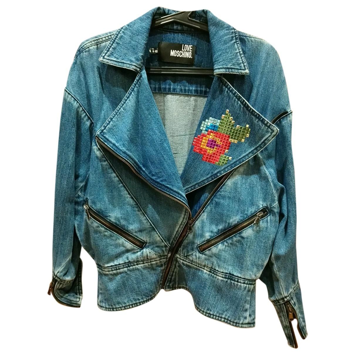 Moschino Love - Veste   pour femme en denim - bleu