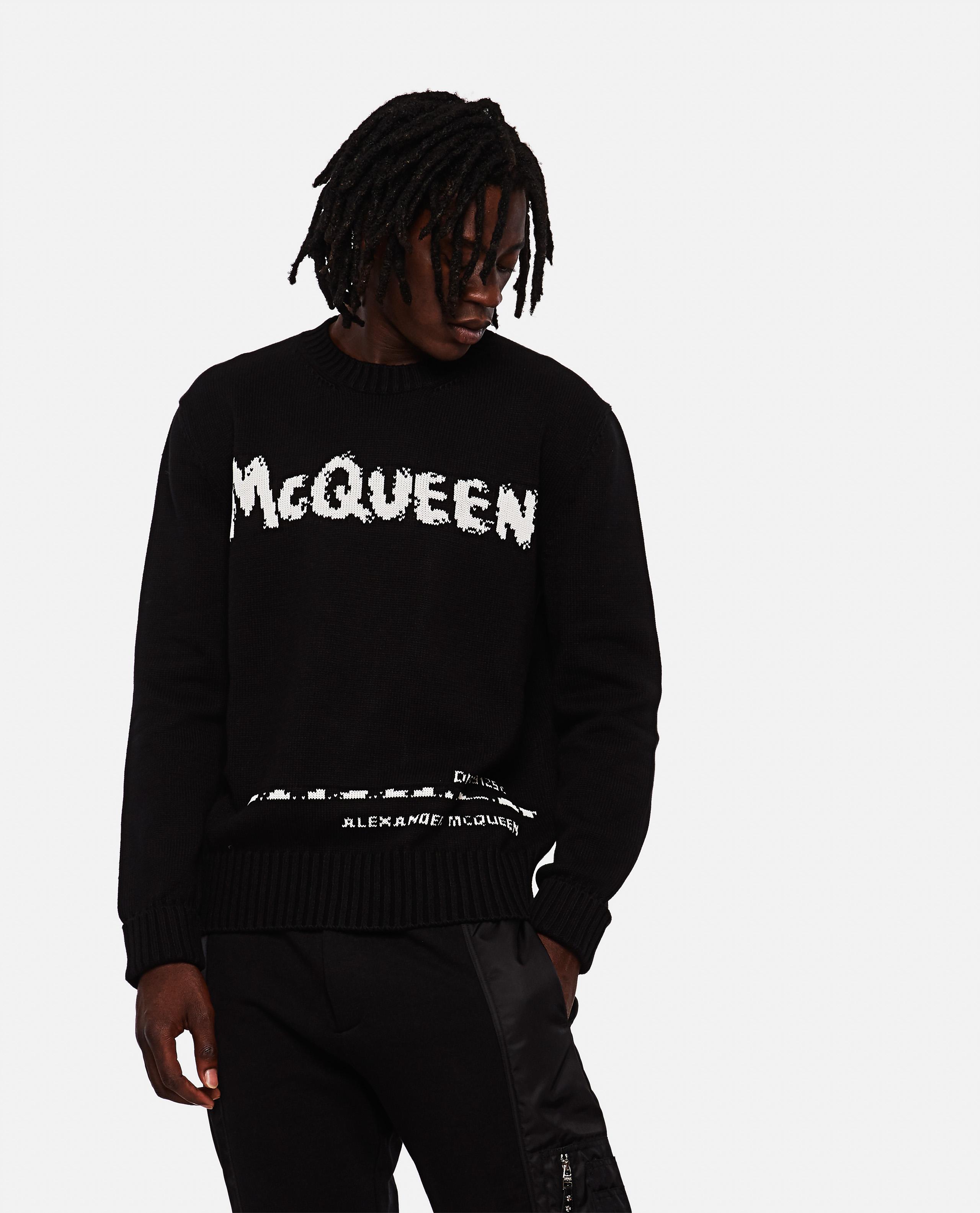 Graffiti cotton sweater